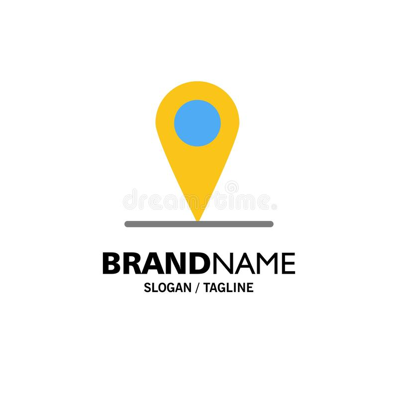 Location, Map, Interface Business Logo Template. Flat Color vector illustration