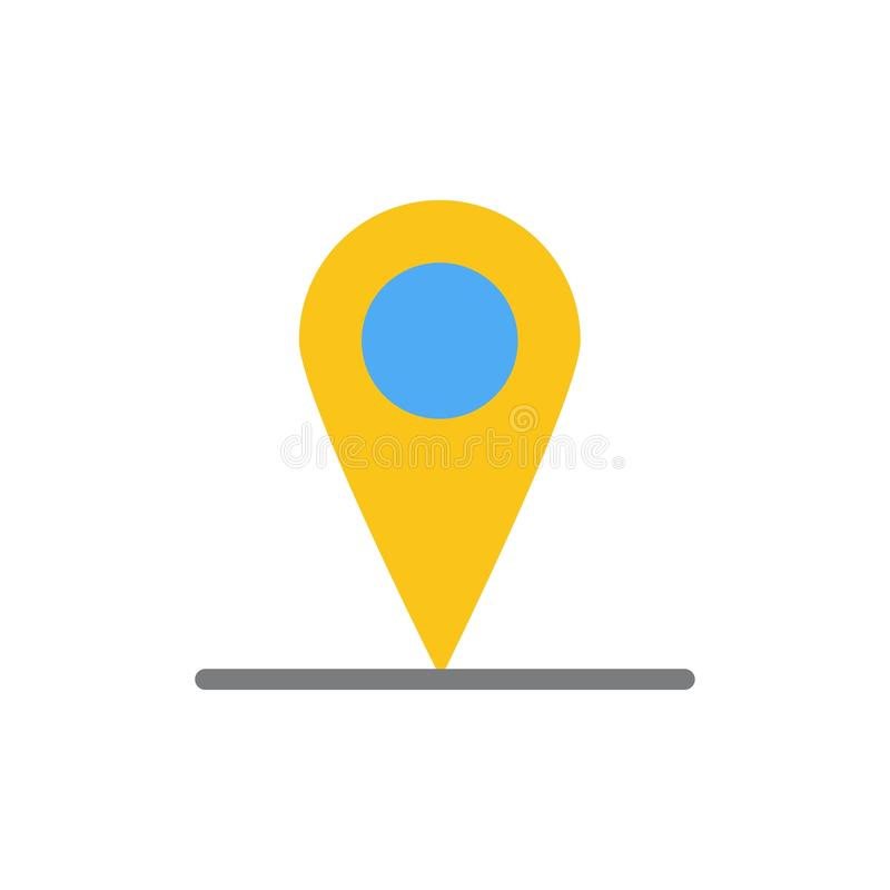 Location, Map, Interface  Flat Color Icon. Vector icon banner Template royalty free illustration