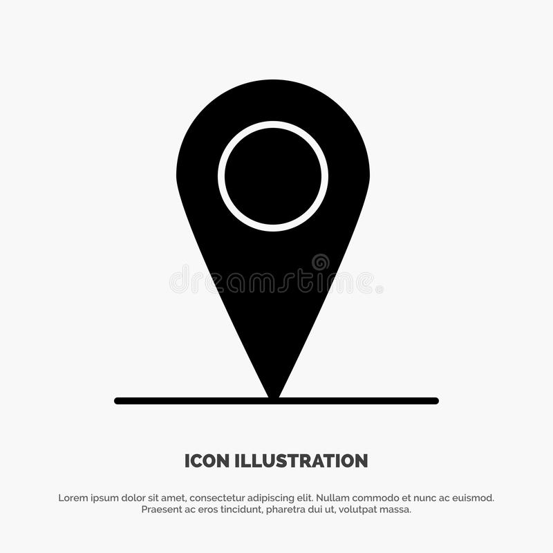 Location, Map, Interface solid Glyph Icon vector stock illustration