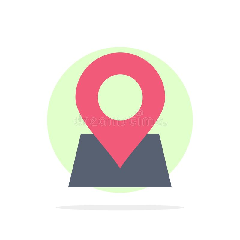 Location, Map, Marker, Pin Abstract Circle Background Flat color Icon royalty free illustration