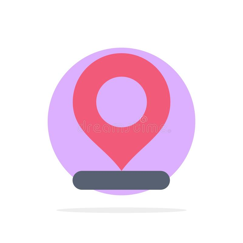 Location, Map, Marker, Pin Abstract Circle Background Flat color Icon vector illustration