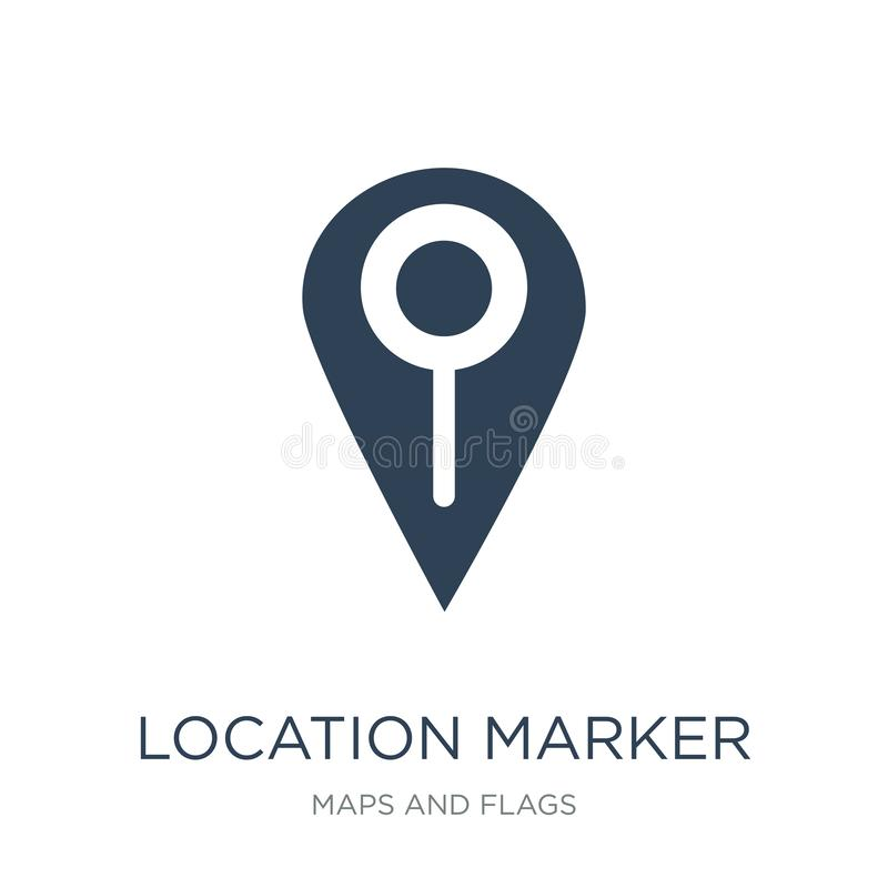 Location marker icon in trendy design style. location marker icon isolated on white background. location marker vector icon simple. And modern flat symbol for royalty free illustration