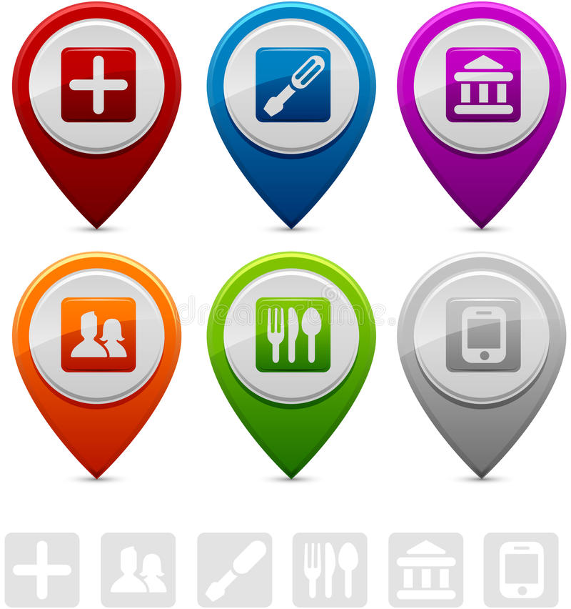 Location Markers stock illustration
