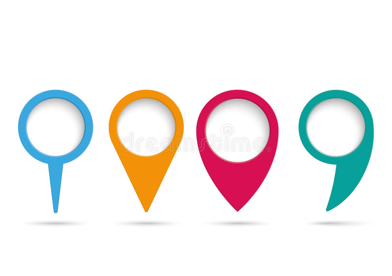 Location Position Icon Free Vector Graphic On Pixabay: 4 Location Markers Infographic PiAd Stock Illustration