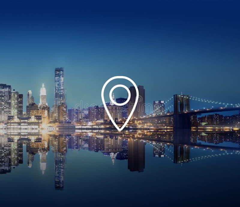 Location Navigation Destination Journey Position Concept stock photography