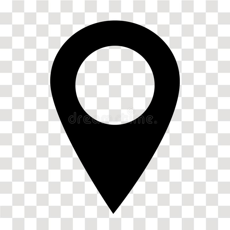 Location pin icon on transparent. map marker sign. flat style. map point symbol. map pointer symbol. map pin sign. Location pin icon on transparent. map marker vector illustration