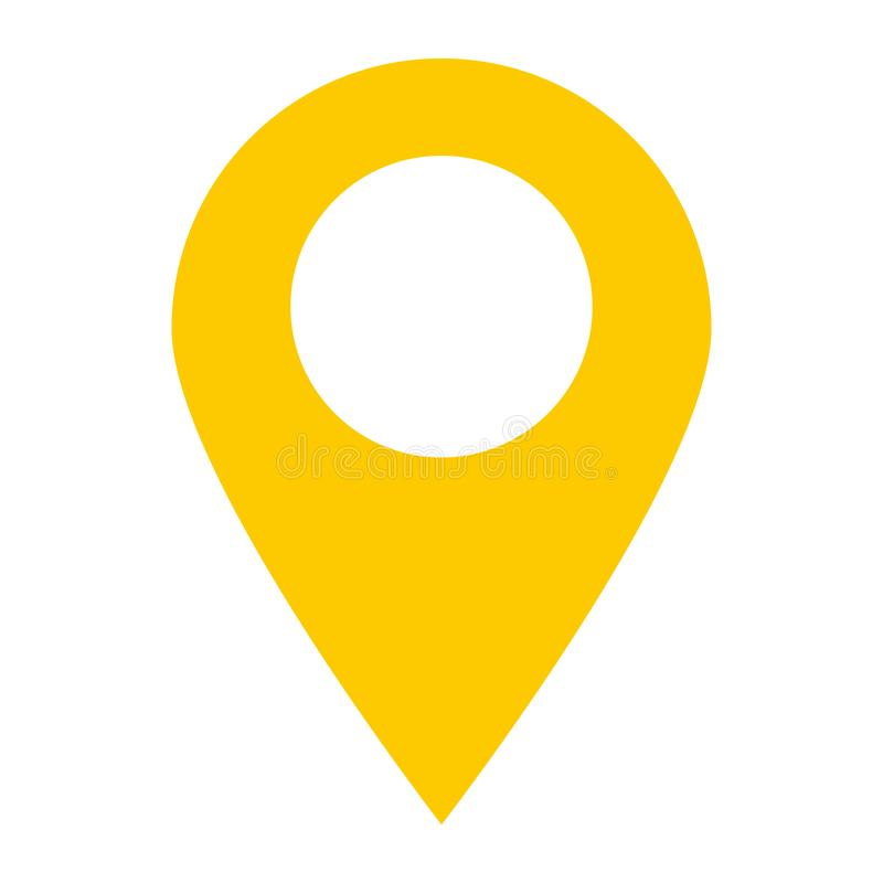 Location pin icon on white background. location pin point. royalty free illustration