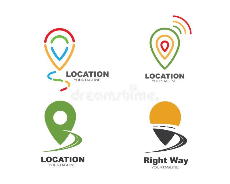 location point icon logo vector design vector illustration