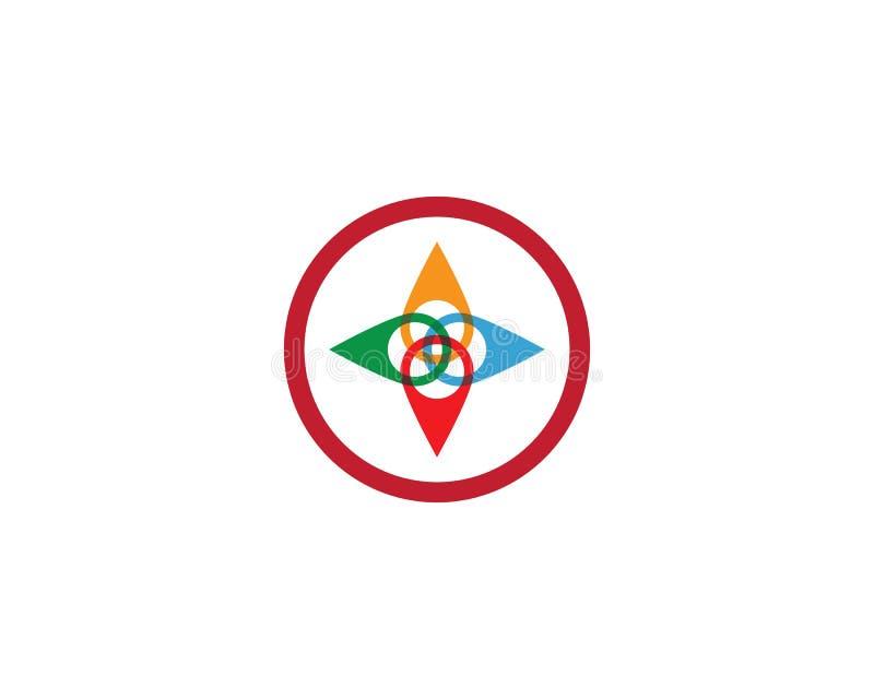 Location point Logo template vector icon illustration design. Vector, pin, map, pointer, marker, symbol, place, navigation, web, travel, flat, position vector illustration