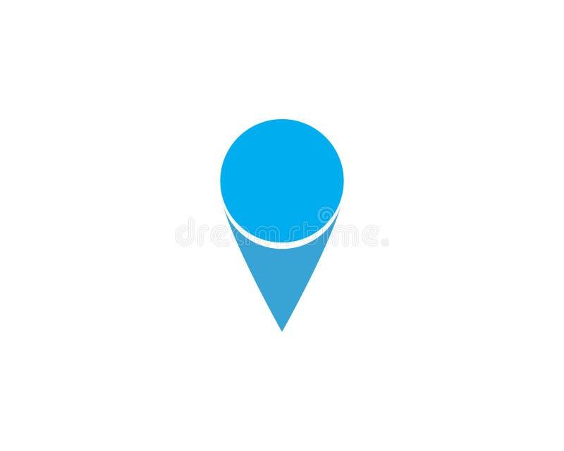 Location point Logo template vector icon illustration design. Vector, pin, map, pointer, marker, symbol, place, navigation, web, travel, flat, position stock illustration