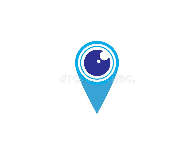 Location point Logo template vector icon illustration design. Vector, pin, map, pointer, marker, symbol, place, navigation, web, travel, flat, position royalty free illustration
