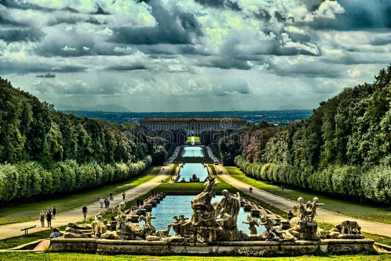 Giardini Reggia di Caserta royalty free stock photo