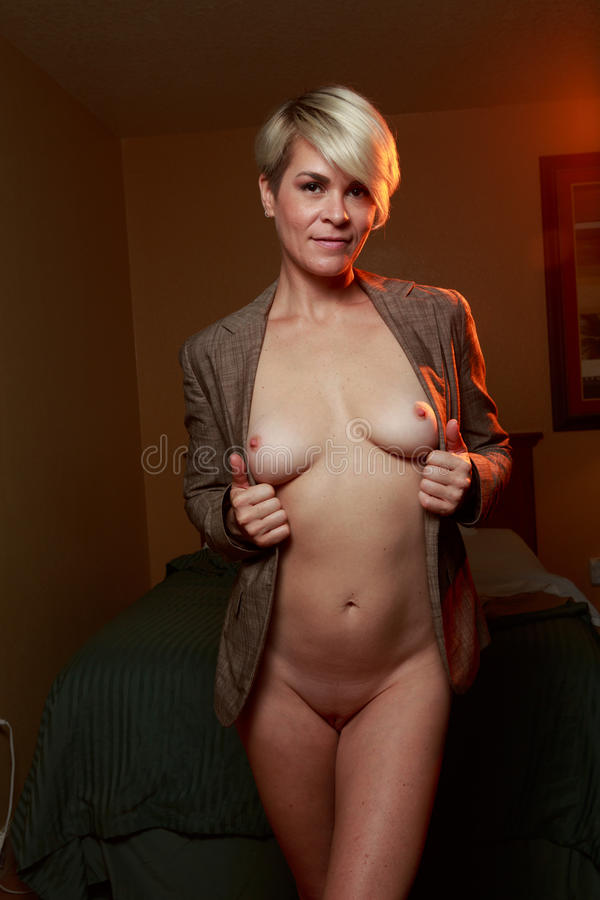 Nude Blonde Woman In Hotel Stock Image Image Of Model -6543