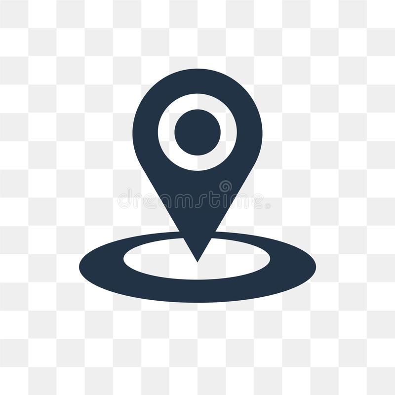 Location vector icon isolated on transparent background, Location transparency concept can be used web and mobile. Location icon vector illustration
