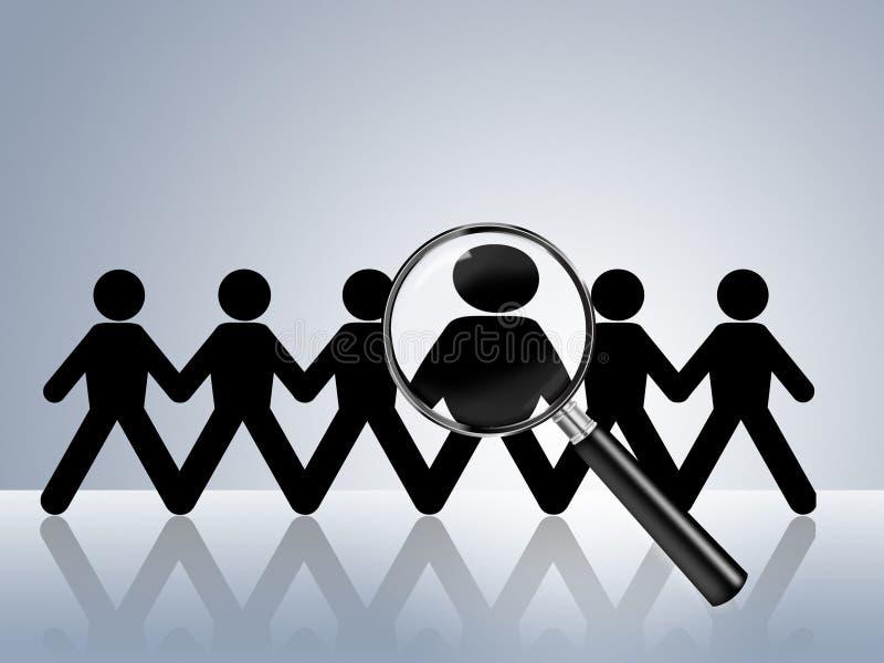 Location voulue par aide de recherche d'un emploi maintenant illustration de vecteur