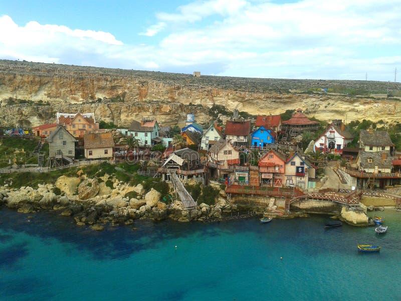 Popeye Village, Malta. royalty free stock images