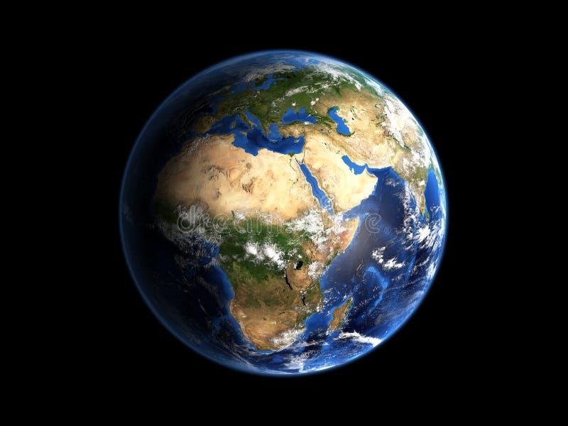 Locations de la terre de planète illustration de vecteur