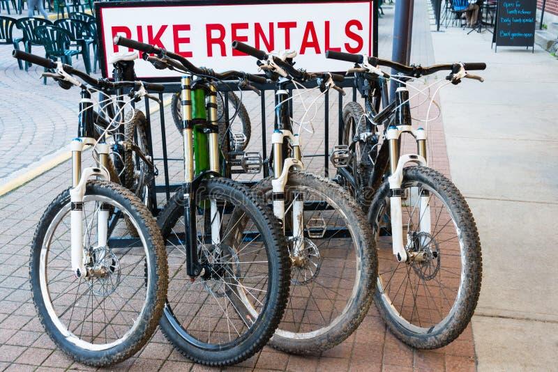 Locations de vélo de montagne photos libres de droits