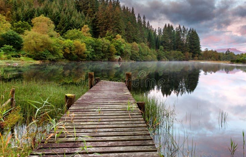 Loch Ard do estaleiro imagem de stock royalty free