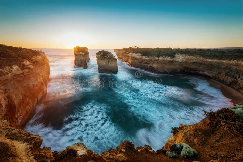 Loch Ard Gorge, Great Ocean Road, Victoria, Australia royalty free stock images