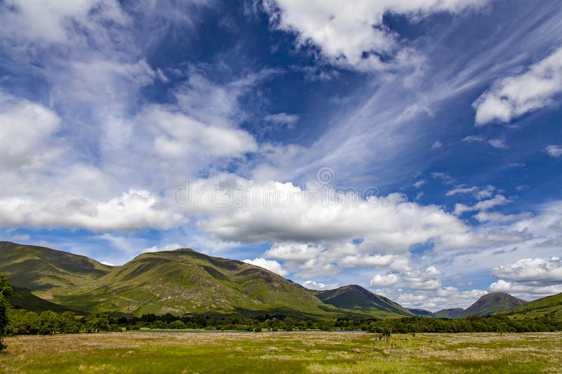 Loch Awe landscape. Image of the lush landscape around Kilchurn Castle and Loch Awe. Scotland royalty free stock image