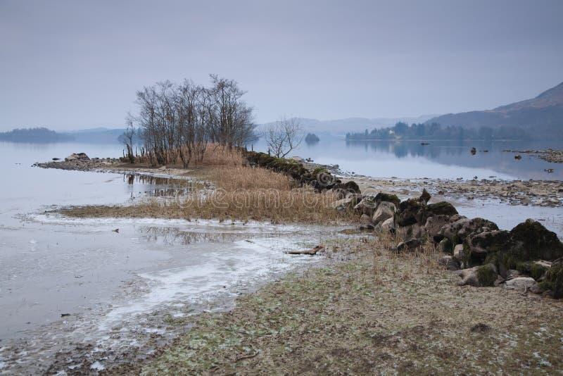 Loch awe shore royalty free stock image