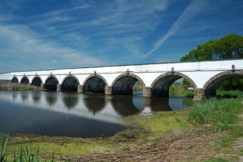 Loch-Brücke Ungarn-Hortobagy neun lizenzfreie stockbilder