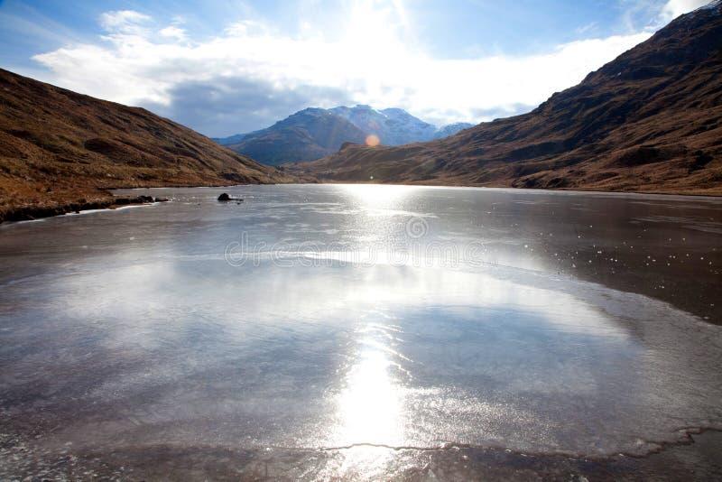Loch congelato fotografia stock