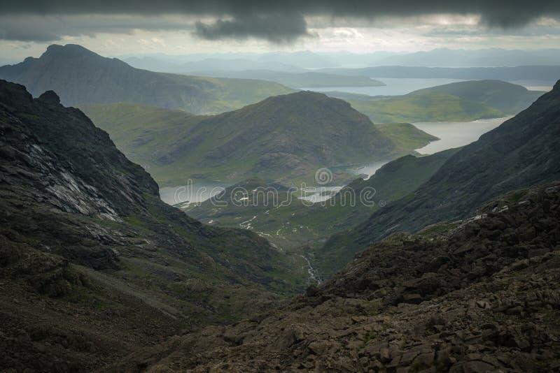 Loch Coriusk from the Black Cuillin stock photos