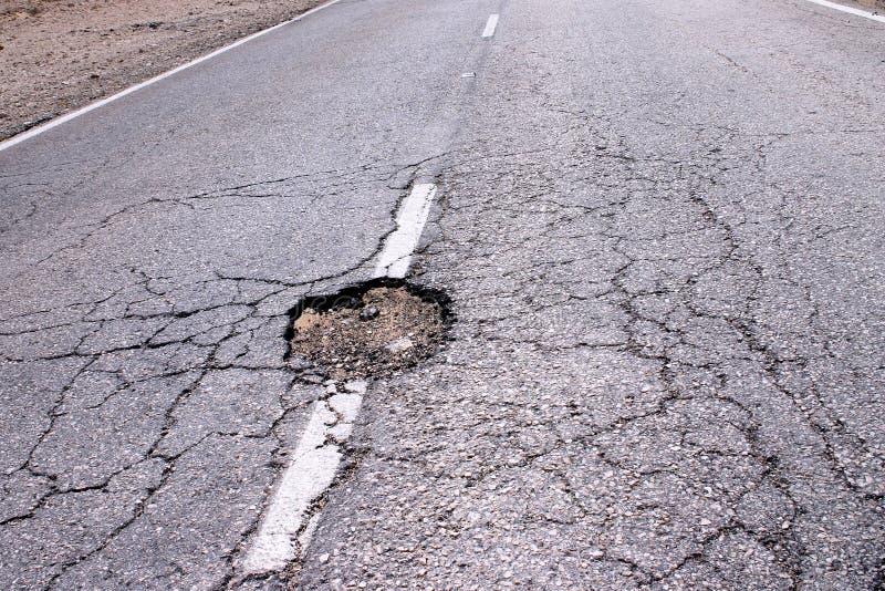 Download Loch in der Straße stockbild. Bild von technik, brechen - 37239