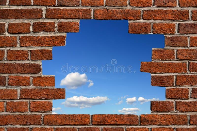 Loch in der Wand lizenzfreies stockbild