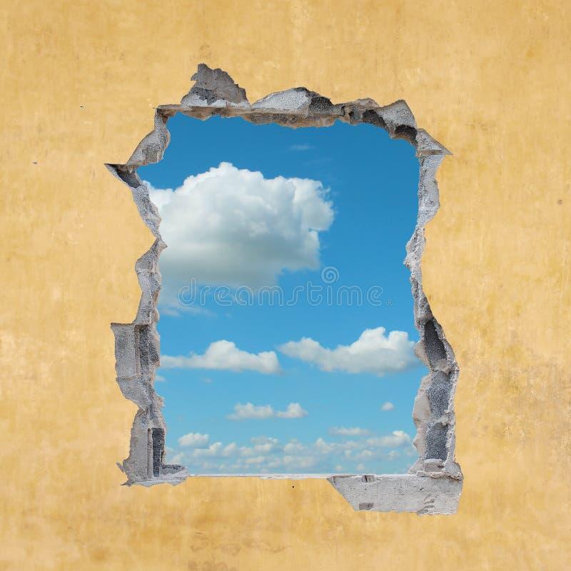 Loch in der Wand stockfoto