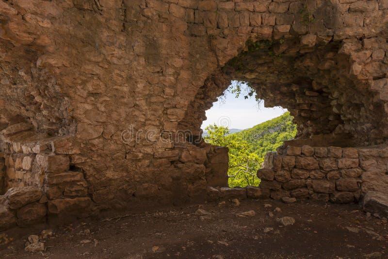 Loch in der Wand, Anakopia-Bollwerk stockbilder
