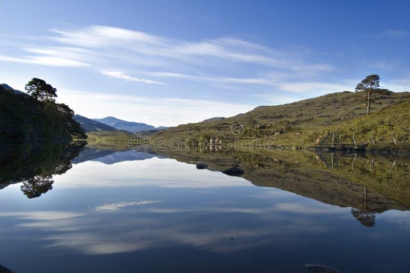 Loch Dughaill Scozia immagini stock