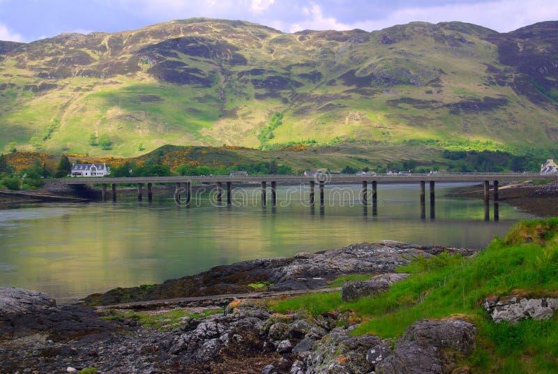 Loch Duich, montagnes écossaises photographie stock