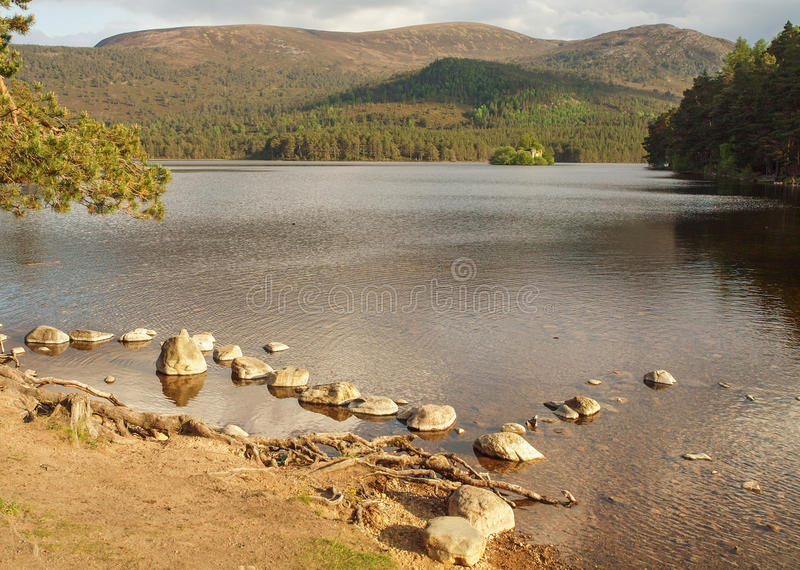 Loch ein Eilein, Schottland stockfotografie