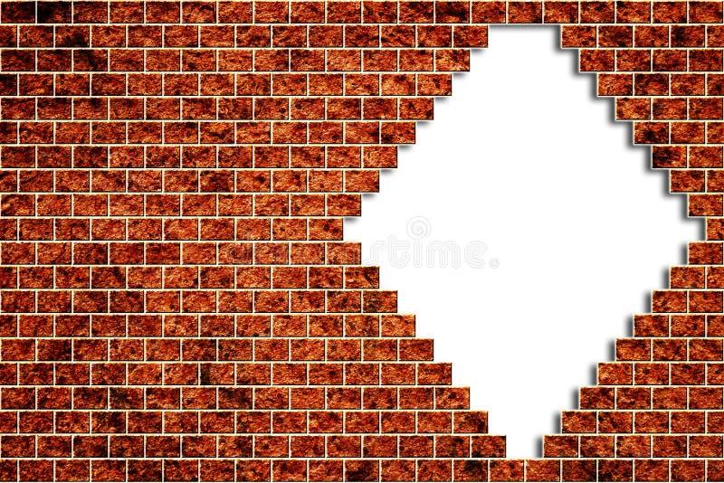 Loch in einer Backsteinmauer stock abbildung