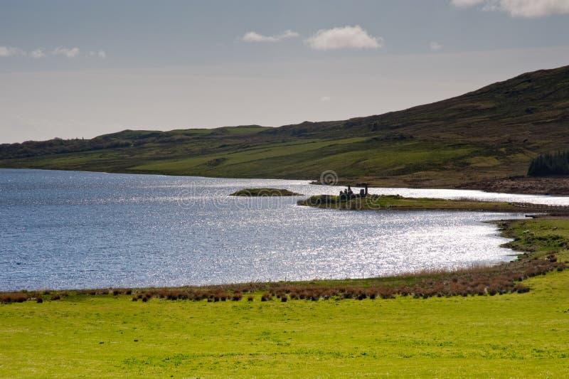Loch Finlaggan stock foto's