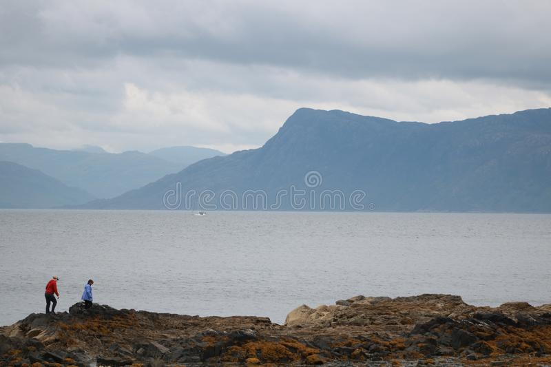 Loch at Fort William, Scotland in the summertime. stock photos