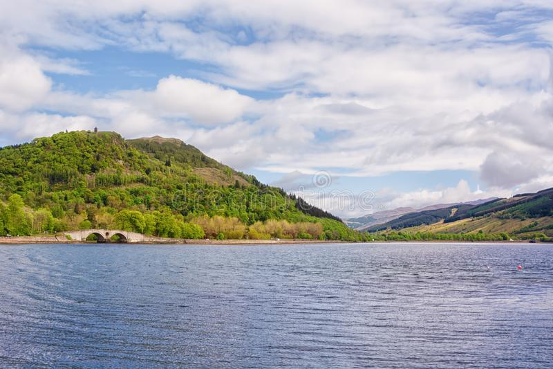 Loch Fyne, Ecosse, R-U, dans le printemps photo stock