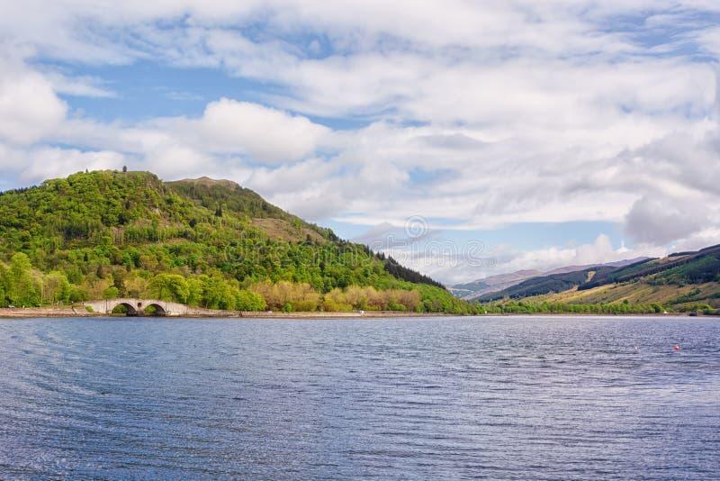 Loch Fyne, Szkocja, UK, w wiośnie zdjęcie stock