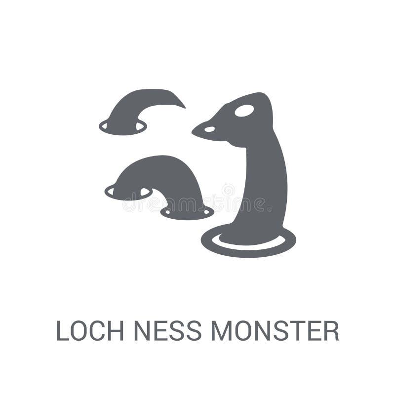 Loch het monsterpictogram van Ness  stock illustratie