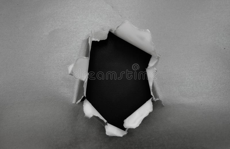 Loch im Silber lizenzfreies stockbild