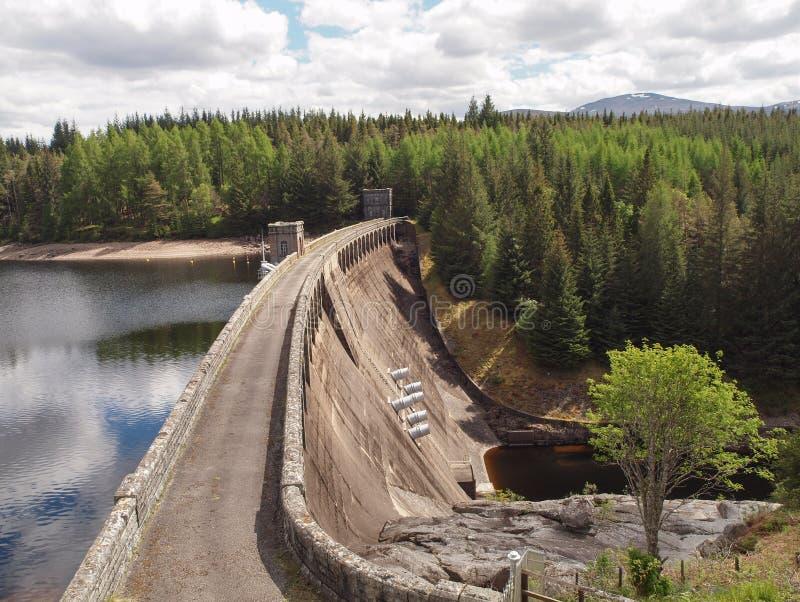 Loch Laggan-Verdammung, Schottland lizenzfreie stockfotos