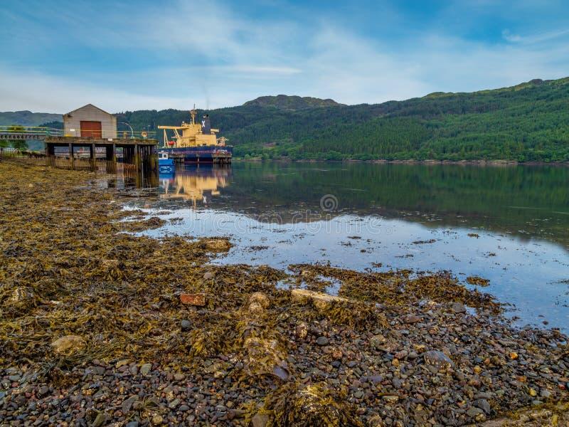 Loch lang INEOS, Verschmutzung, Schottland lizenzfreie stockfotografie