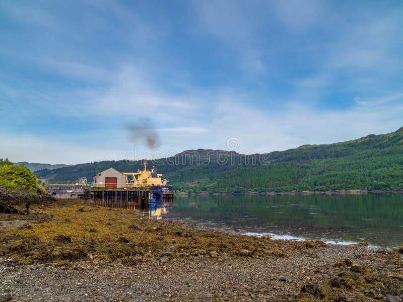 Loch lang INEOS, Verschmutzung, Schottland stockfotos