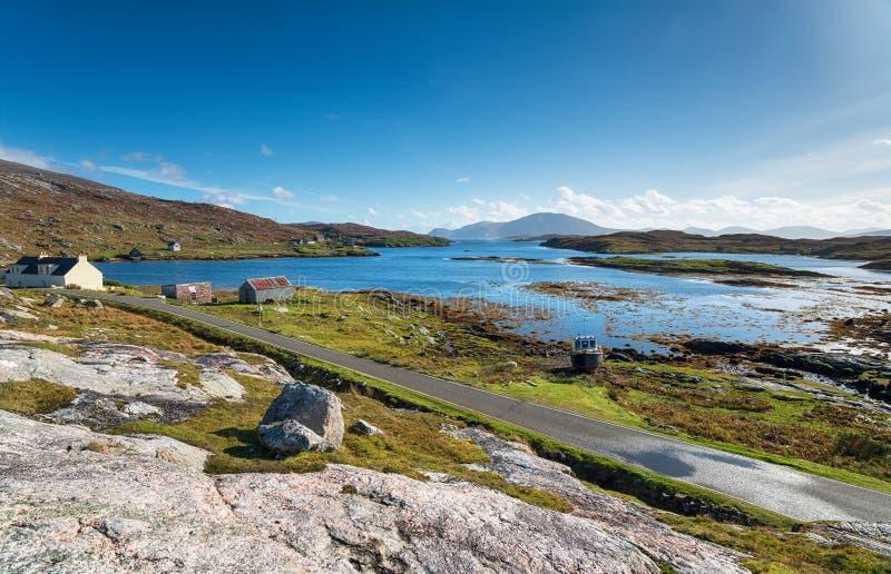 Loch Leosavay on the Isle of Harris. Loch Leosavay at Amhuinnsuidhe on the Isle of Harris in Scotland stock photography
