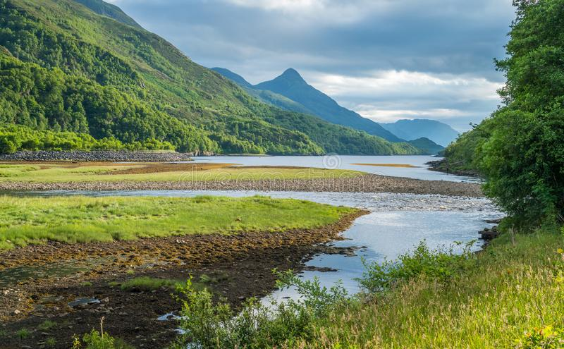 Loch Leven as seen from Kinlochleven, in Perth and Kinross council area, central Scotland. stock image