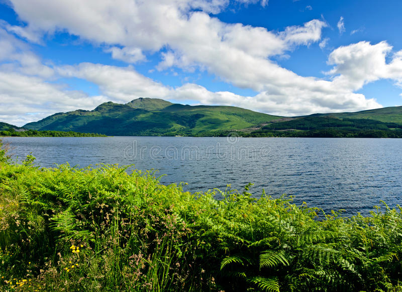 Loch Lomond. The bonnie banks of Loch Lomond stock photos