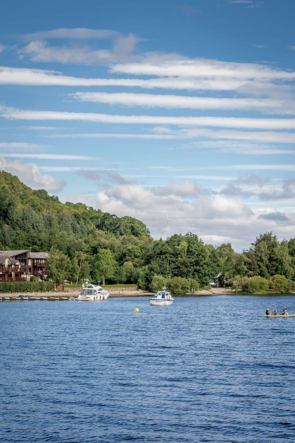 Loch Lomond Scotland UK in The Trossachs National Park famous Scottish tourist destination stock images